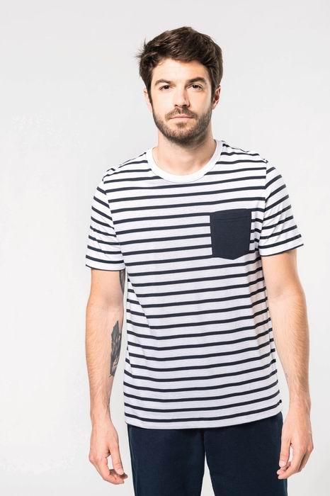 Pánské pruhované trièko s kapsièkou - zvìtšit obrázek
