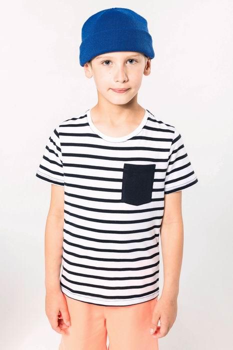 Dìtské pruhované trièko s kapsièkou - zvìtšit obrázek
