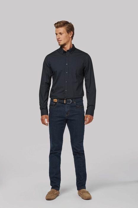 Pánská popelínová košile dlouhý rukáv - zvìtšit obrázek