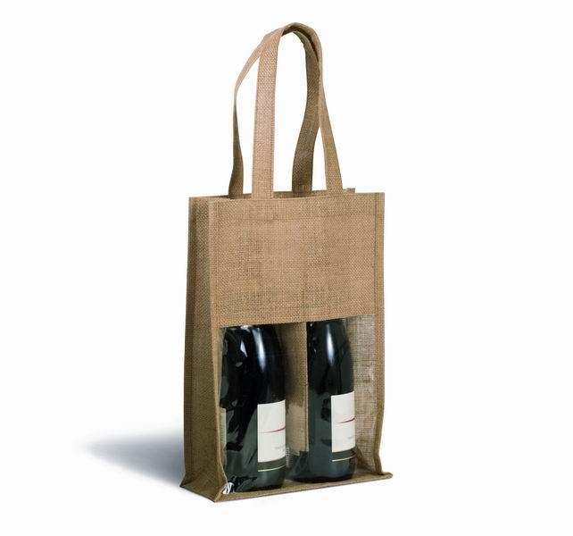 Jutová taška na vína - zvìtšit obrázek