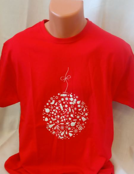 Unisex trièko - Vánoèní motiv ve tvaru baòky - zvìtšit obrázek