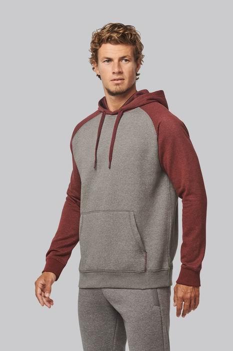 Mikina unisex Adult two-tone hooded sweatshirt - zvìtšit obrázek